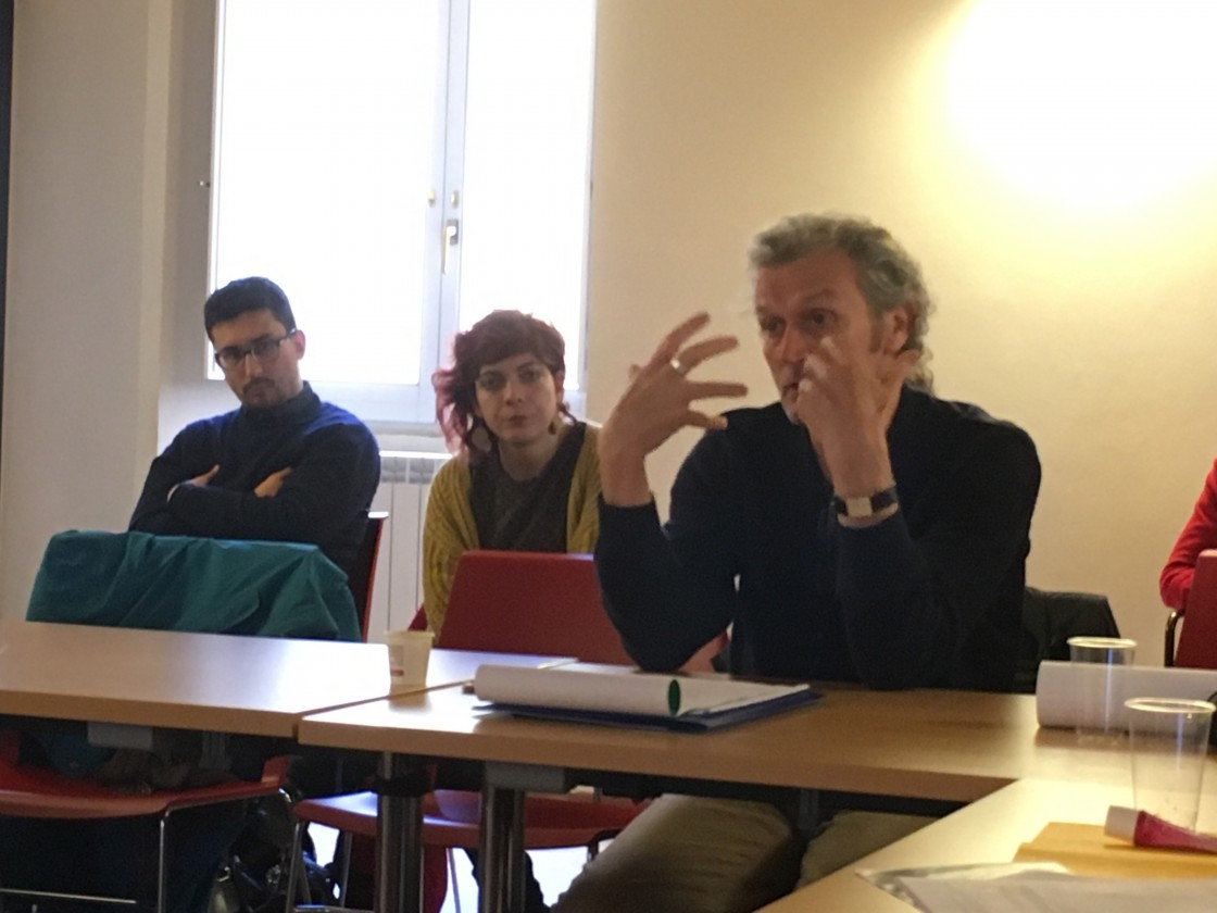"Cahal McLaughlin at the ""Political Imagination Laboratory"", Perugia, Novembre 2016"